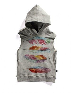 Buy Minti Sleeveless Hood Feathers