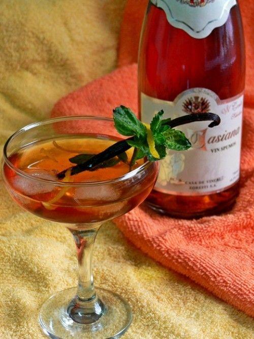 Vaníliás-mentás pezsgő