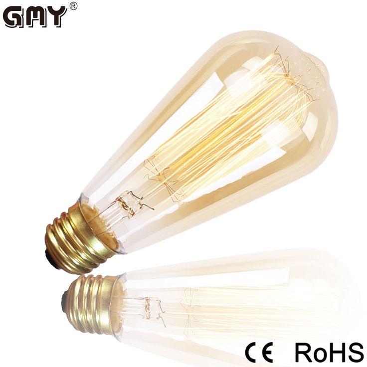 Edison Vintage 110V 60W E26 Bulb Retro Industrial Incandescent Light Lamp Style #GMY