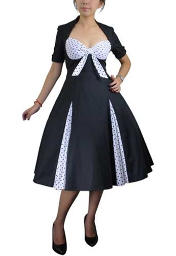 !            !          1 Plus Size Pin Up Dresses: Polka Dot Pin Up Dress (Petticoat Not Included)
