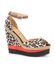 Ravel Leopard Print Wedge  £59.99