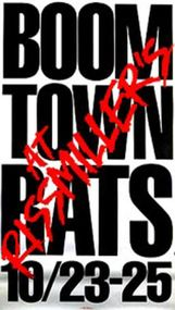 Boomtown Rats Original Poster 20 x 36in