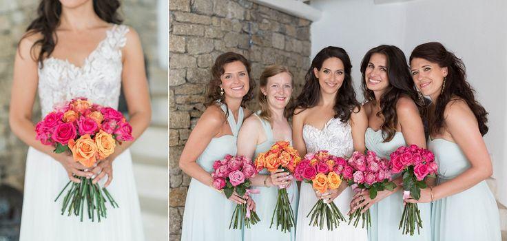 Modern colorful glam wedding in Mykonos