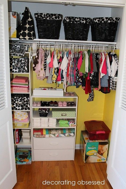 love an organized closet! I never would have thought to paint a closet two-toned, but love it!