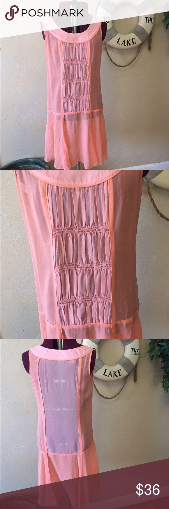 Sundance pink and tangerine dress. Sundance pink and tangerine dress. Semitransparent sundance Dresses Midi