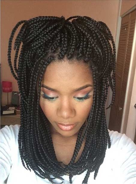 51 Hot Poetic Justice Braids Styles Short Box Braids