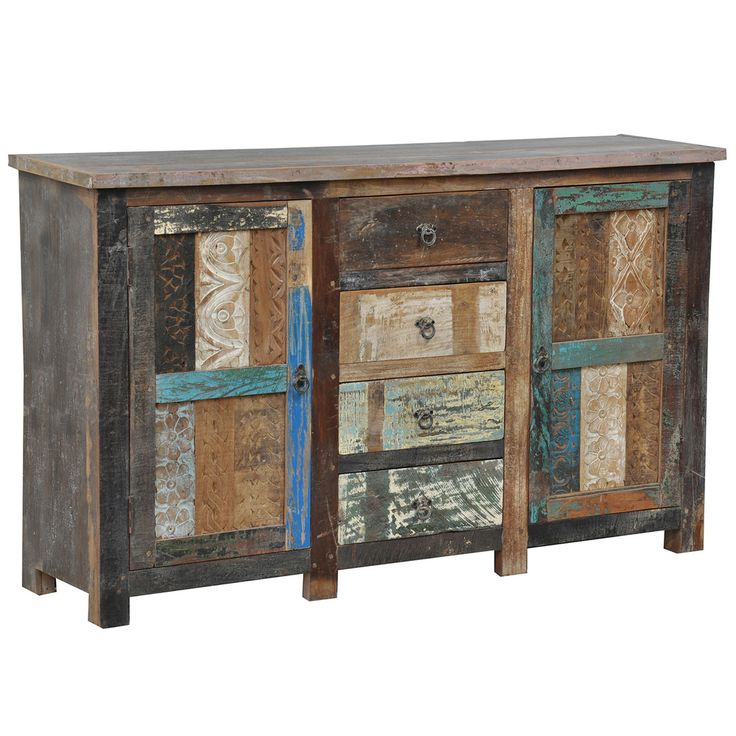 Bono Carved 2 Door/ 4 drawer Buffet | Overstock.com: Eclectic Array, Dining Room, Reclaimed Wood, Reclaimed Materials, Buffet Features, Booth Buffet, Delightful Buffet