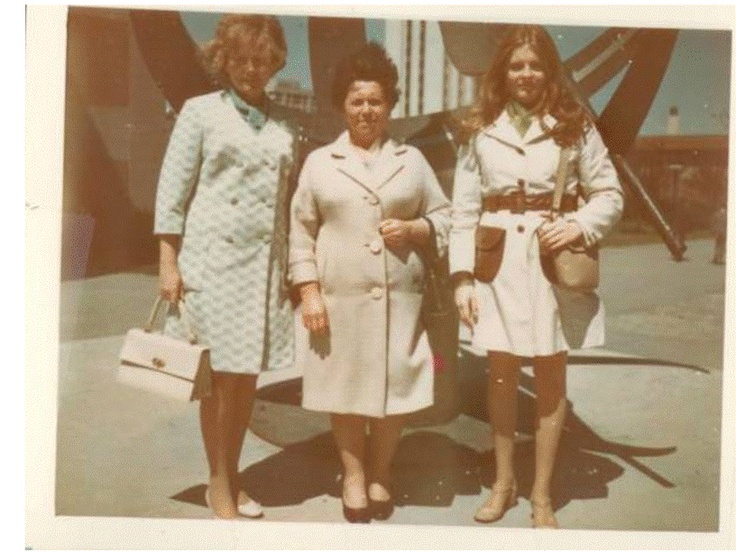 My grandmother, great-grandmother, and great-aunt at York in the late 1960s