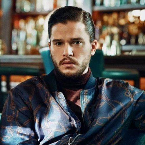 Kit Harington Short Hair - Comb Over with Hard Part  menshairstyletrends 2b6b2f1e8