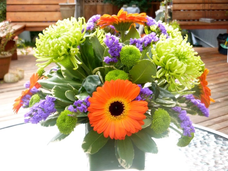 Small table arrangement for Fall or Spring