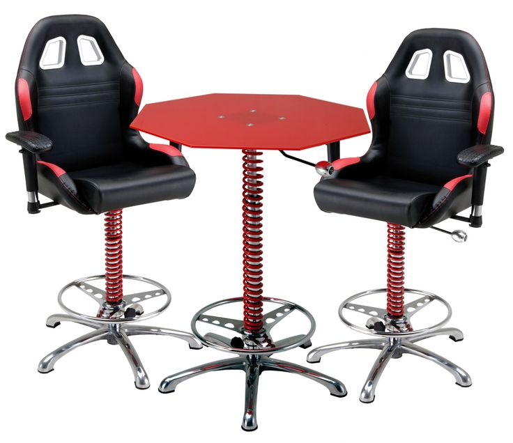 This 3 Piece Red Automotive Bar Furniture setup rebuilds your bar garage or even office area into a fully built bar area that accents both performance and  sc 1 st  Pinterest & 86 best Shop Stools images on Pinterest | Shop stools Swivel bar ... islam-shia.org