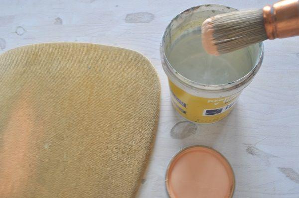pintar tela con chalk paint