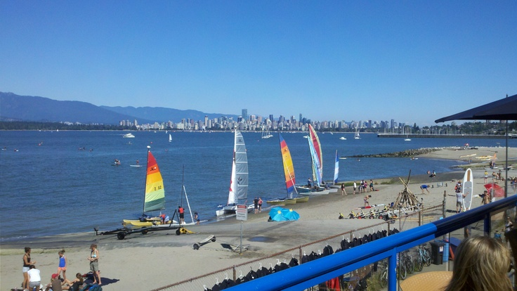 What a great city we live in! This is a picture from the deck at Spanish Banks looking toward Vancouver's West End, Stanley Park and the North Shore Mountains.