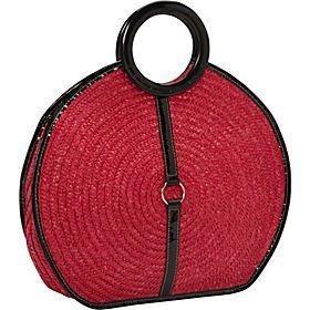 Straw Handbags and Purses - eBags.com  -  Magid - Milan Straw Top Handle Bracelet Round Tote