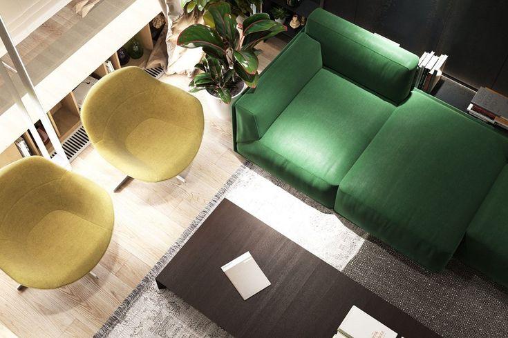 Дизайнеры компании S&T architects представили визаулизации проекта квартиры 9J Apartment в Одессе, Украина. Глубокие и насыщенные цвета оформления интерьера полностью соответствуют мужской элегантности. Зеленый диван и панельная обшивка из темного дерева создают ощущение нахождения в собственной «берлоге», но гораздо более утонченной. Элегантность гостиной продолжается по всему дому с блестящими кухонными …