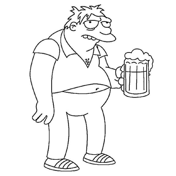 41 best Coloriages Simpsons images on Pinterest Coloring pages