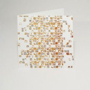 Gold Mosaic card. A Signature Collection design.