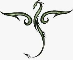Small Simple Dragon Tattoos Black dragons, tattoo ideas,