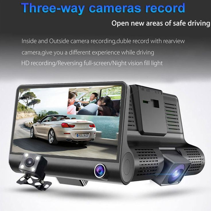 4 Inch 1080P Dual Lens Car DVR Dash Cam Camera Video Recorder Rearview G-sensor