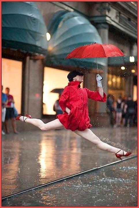Part ballerina, part deer, part do-not-want-to-get-these-expensive-shoes-soaking-wet.Raindance, Dance Photography, Ballet Dancers, New York Cities, Jordans Matter, Book, Rain Dance, Dance Photos, Red Umbrellas