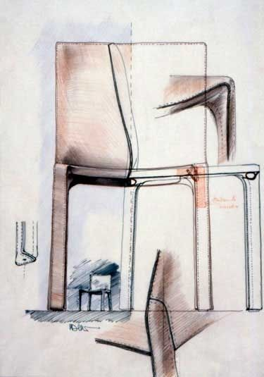 Cassina 412 CAB Chair by Mario Bellini (1977)