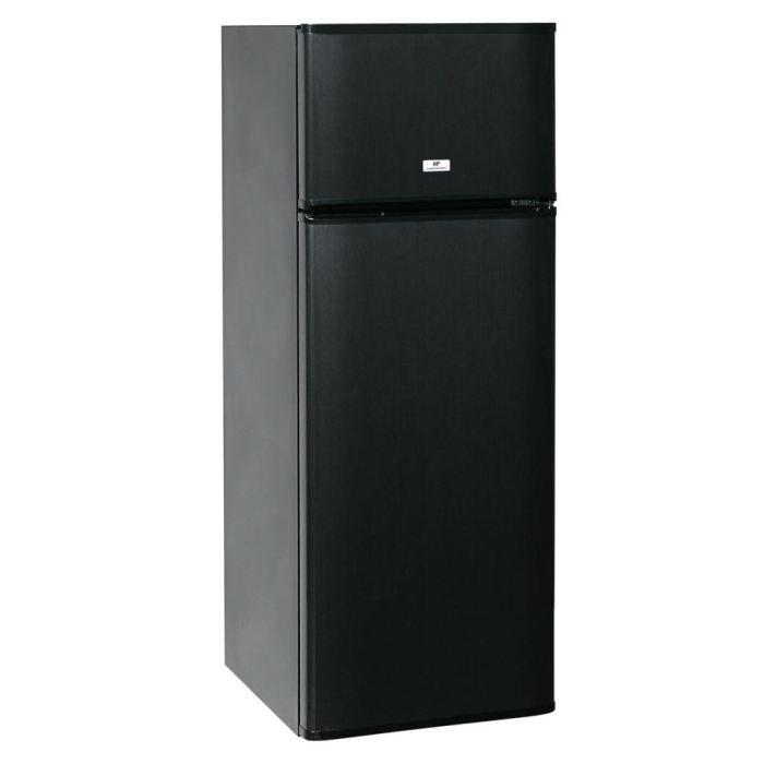 Réfrigérateur congélateur en haut - Volume 227L - Froid statique - Classe A+ - Largeur 55 Cm - Coloris Noir