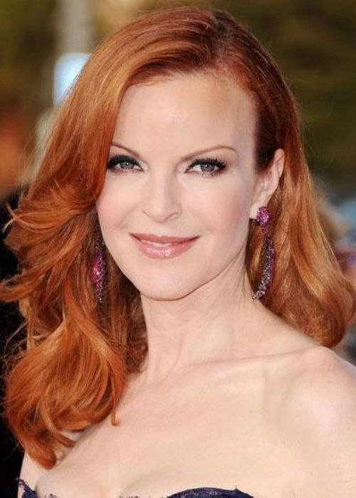 Desperate Housewives star Marcia Cross looks radiantly beautiful with her classic medium red hair color. This vibrant red hair color brightens up her complexion, giving her cheeks a healthy and warm glow. When it comes to ginger variations of red, like Marcia's, pale complexions are best suited to this color. Jewel colors work well with ginger locks – think amethyst, emerald, sapphire, and ruby.