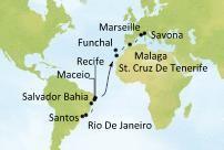 Ciao... dovolte si dovolenou | Costa Favolosa - Kanárské ostrovy, Madeira, Španělsko, Francie, Itálie - Brazílie - Rio de Janeiro