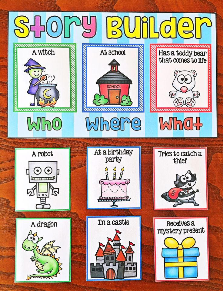 Writing Center or Station. Story Builder. To use the activity, students simply match the color-coded picture cards to the board. They get their very own character, setting and event to write about. Some of the combinations are hilarious which students love! The activity encourages their creativity.