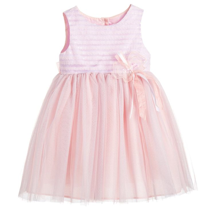 Bonnie Jean SS 2016 ***Pink & Lilac Tulle Dress with Butterfly Appliqué at Childrensalon.com