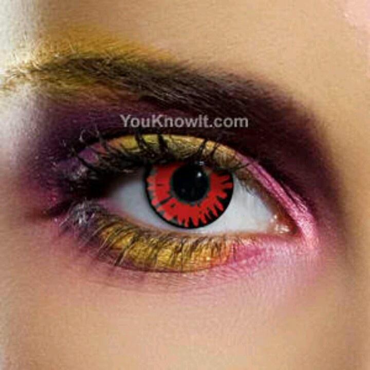 how to make your eyes red like a vampire