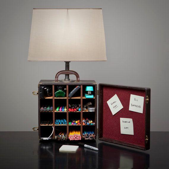 A Box LampOrganizing Ideas, Storage Solutions, Organic Ideas, Creative Crafts, Storage Organic, Storage Organization, Boxes Lamps, Crafts Organic, Art Supplies