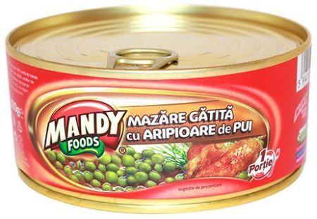 Mazăre Gătită cu Aripioare de Pui - Conservă easy-open, 300 g