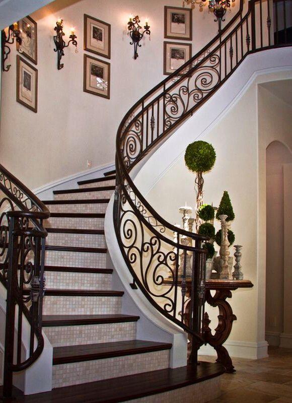 Beautiful winding stairway