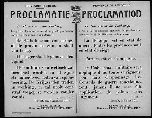 Oorlogsproclamatie. Bericht van de gouverneur by mathildepaukens, via Flickr
