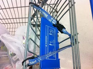 Coupon Binder Shopping Cart Trick. I would have never thought of this. I always put my purse underneath. YAY