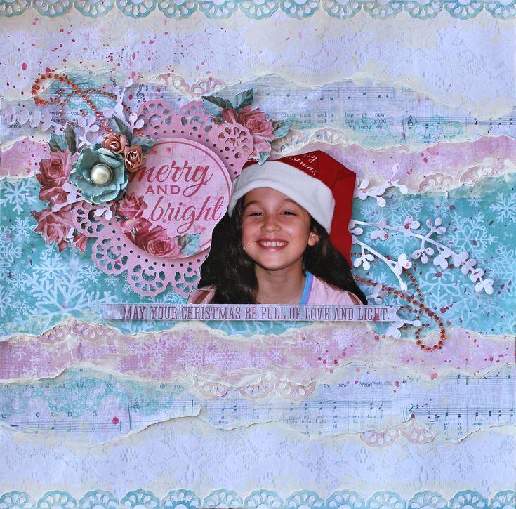 "Merry and Bright - Kaisercraft ""Silver Bells"" - Kaisercraft using new ""Silver Bells"" Christmas collection.  http://cathycafun.blogspot.com.au/2015/09/kaisercraft-dt-shabby-chic-christmas.html"