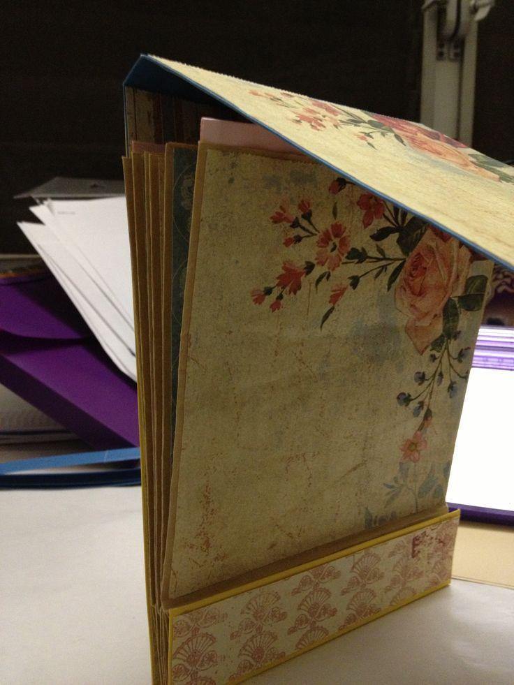 Paper bag mini album - using Kathy Orta's aka paper goddess tutorial