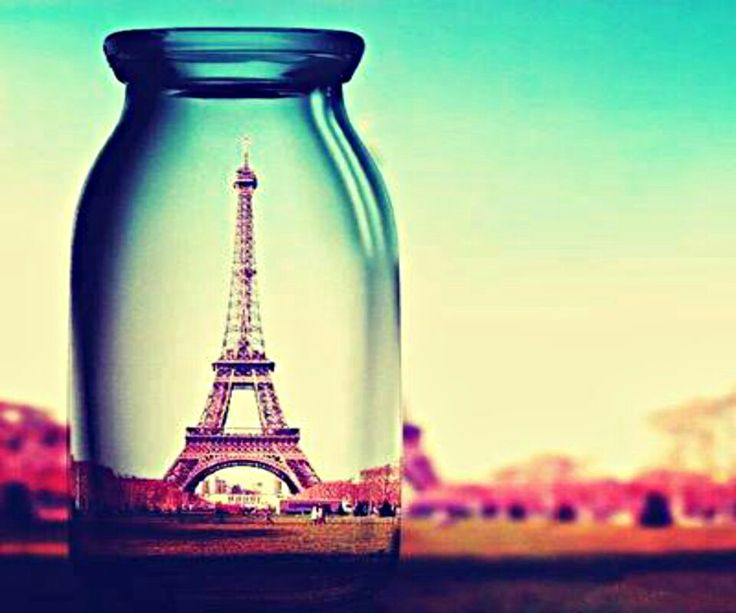 Town in a small glass.