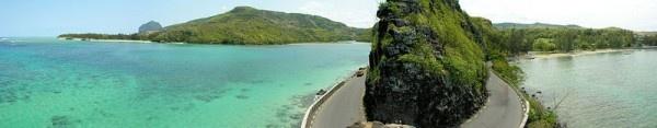 Panorama magnifique de la Baie du Cap, Mauritius