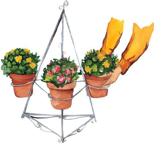 4 las macetas bien agrupadas en los centros de jardiner a - Macetas para colgar ...