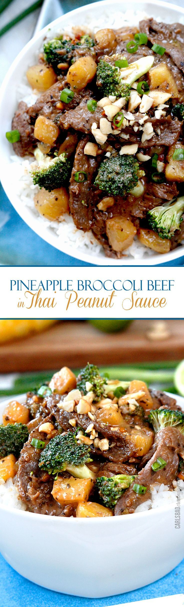 Beef and Broccoli meets Peanut Sauce for an explosion of flavor! After marinating the beef, it takes LESS THAN 15 minutes to throw together!
