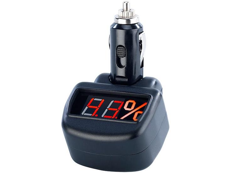 Lescars Kfz Batterie Tester mit LED Lampe