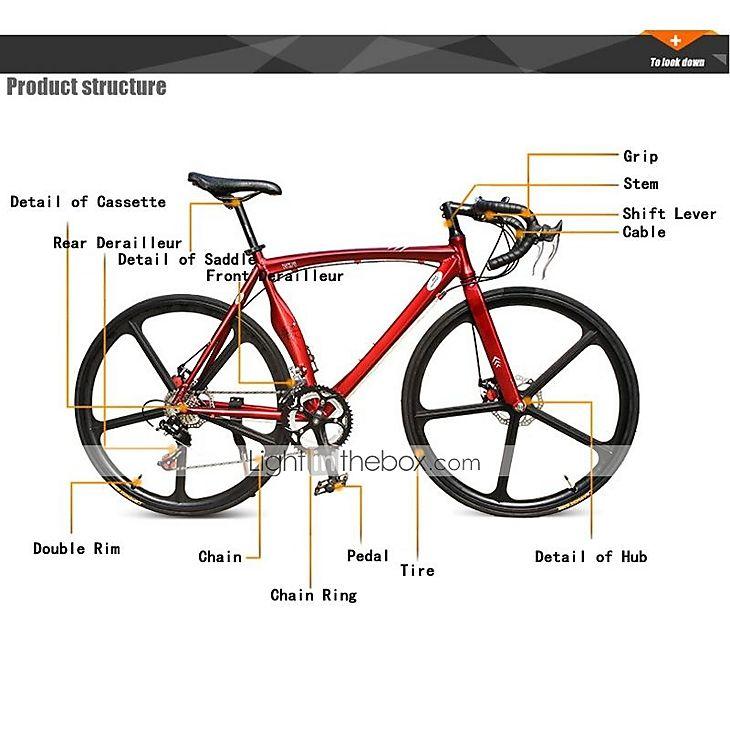Bicicletas de estrada Ciclismo 14 velocidade 26 polegadas/700CC 60 milímetros Masculino / Mulheres / Unissex SHIMANO TX-30Freio a Disco de 2552145 2016 por R$1.351,97