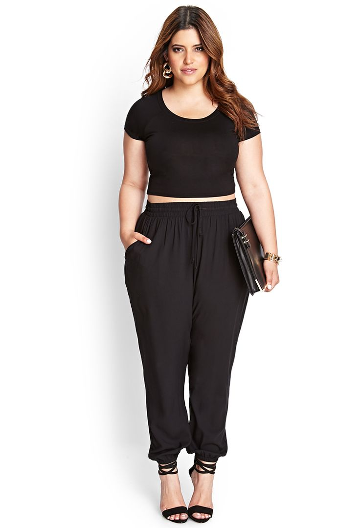 Crop tops for the curvy girl. Pair with jogger or harem pants, a maxi skirt, or fitted mini skirt.