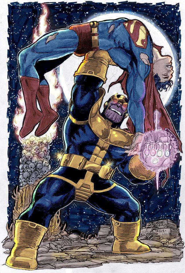 Anime Characters Vs Thanos : Best images about george pérez comic art closely