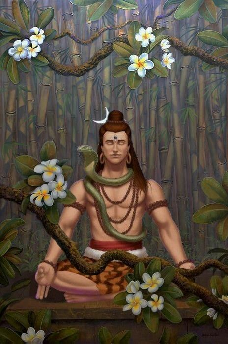Lord Shiva in creative art painting