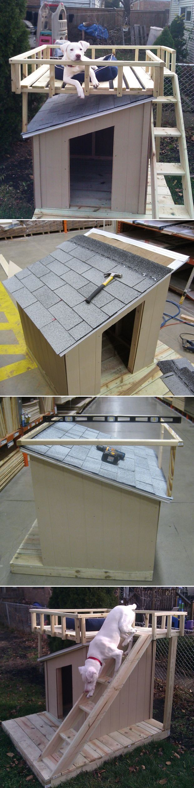 Awesome DIY Dog HousesSee full instructions on ... - Inspiring picture on Joyzz.com
