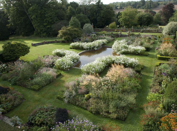 The sunken garden at Doddington Place, Kent, designed by Kirsty Knight Bruce .................. Image: Adam Roberts