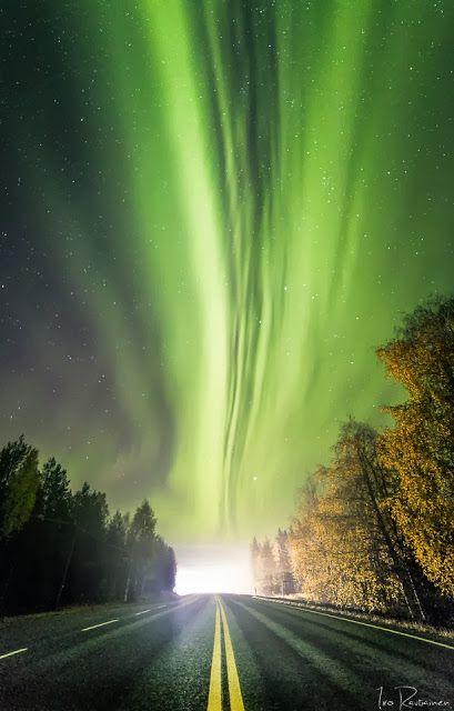 Valokuvaaja Iiro Rautiainen : Revontulet sumussa